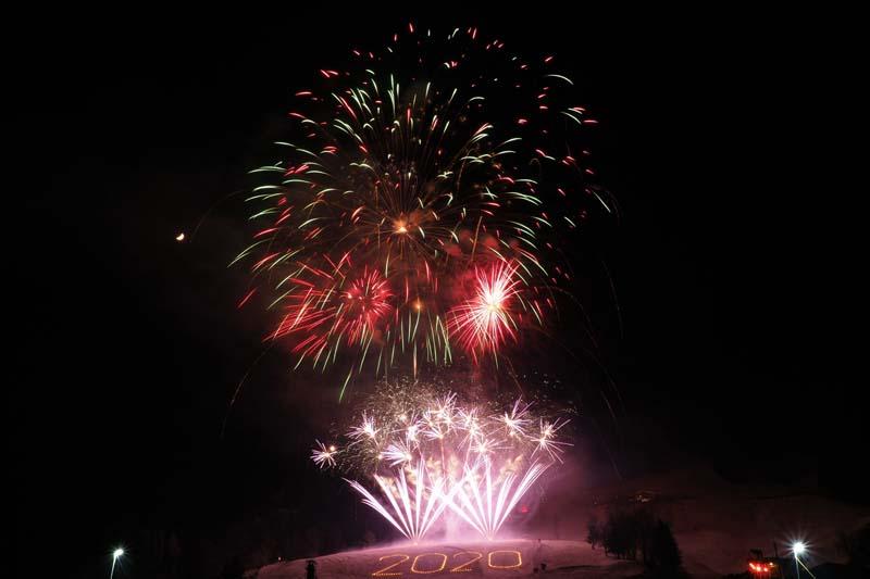 Neujahrsfeuerwerk in Kitzbühel